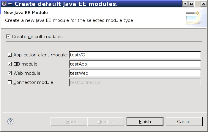 J2EE Setup Tutorial - Create an Enterprise Application Project